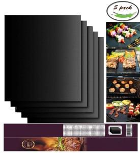 Black BBQ Grill Mat