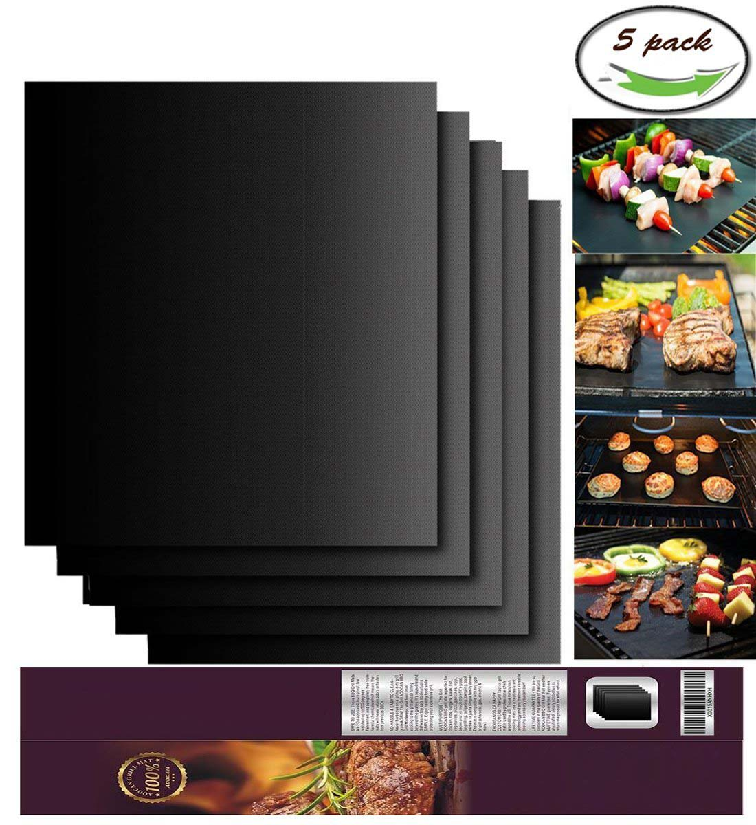 Non-stick BBQ Grill Mat Made with FDA Food Grade PTFE