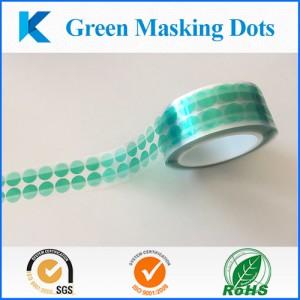 Green Masking Dots-Kingzom adhesive soltuions