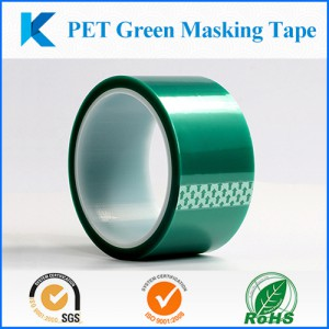 Grenn masking tape, High temperature PET tape