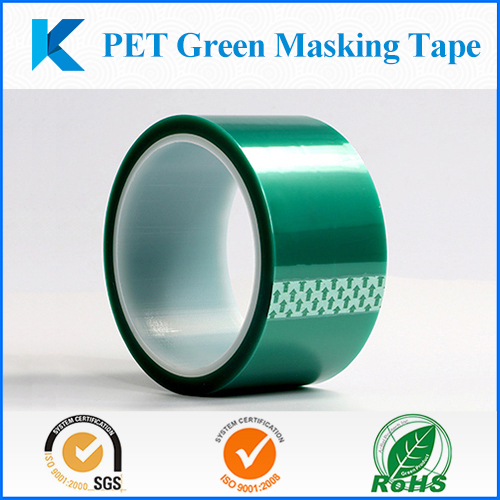 Grenn masking tape, High temperature PET tape