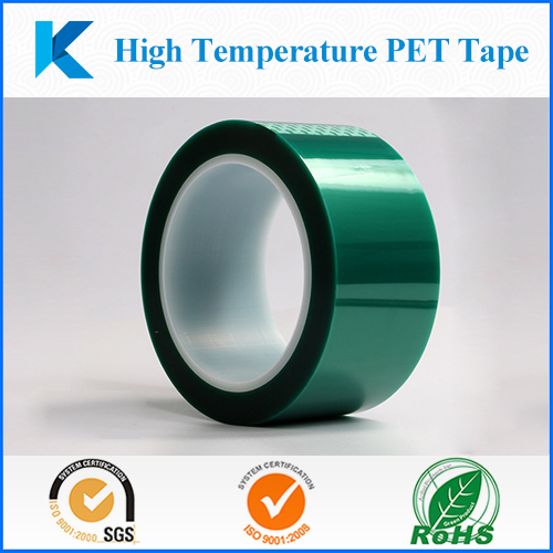 High temperature PET/Polyester green masking tape for PCB Plating /Anodizing/Powder Coating