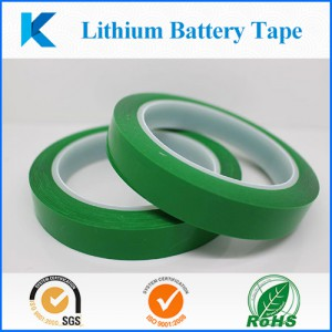 Green PET tape lithium battery terminal for insulation protection