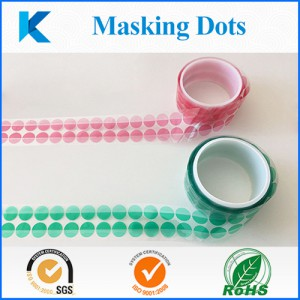Green Masking Dots for Painting and Parking Sensor Covers, Custom Cutting Discs with tab/handle, High Temperature Masking Discs