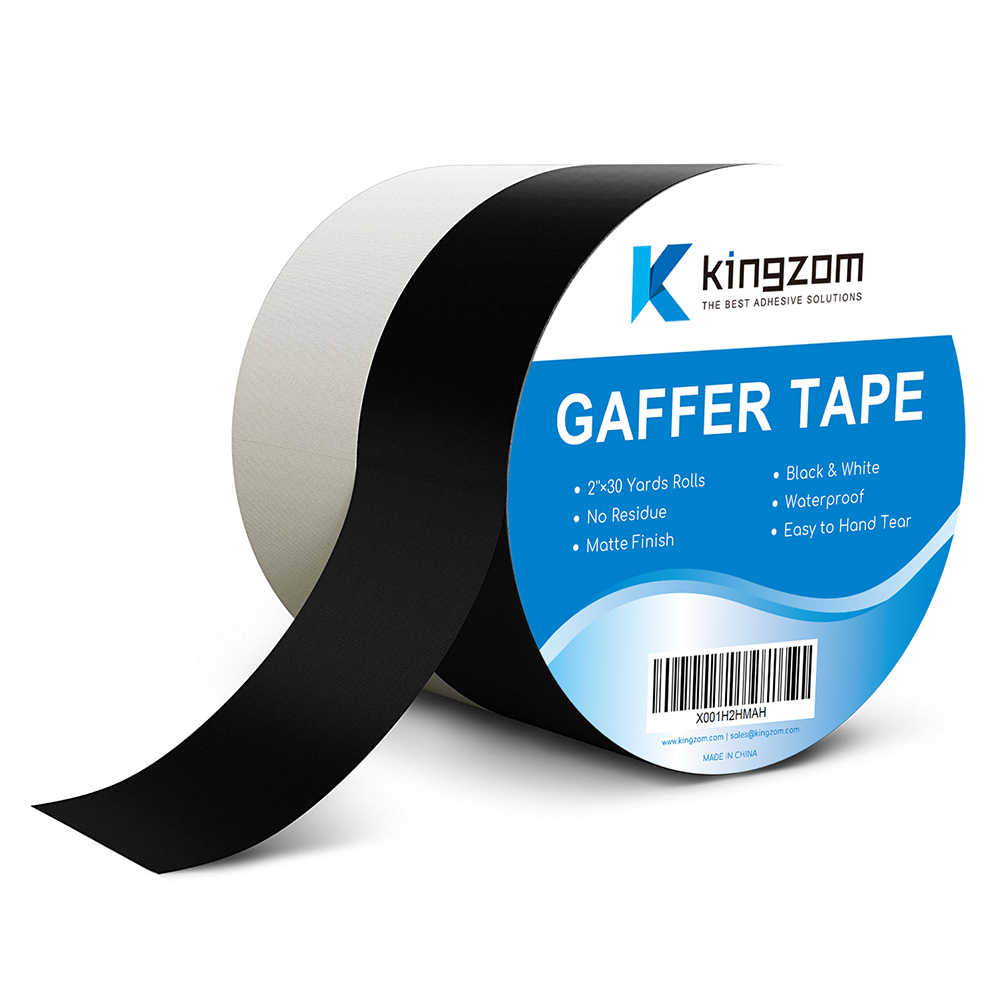 Heavy Duty Matte Cloth Gaffer Tape with White and Black Colour No Residue Perfect Alternative to Duct Tape