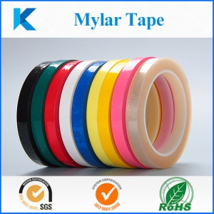 Mylar Tape with Electrical  Insulation  Flame Retardant Tape with Polyester Film and Acrylic Pressure-Sensitive Adhesive