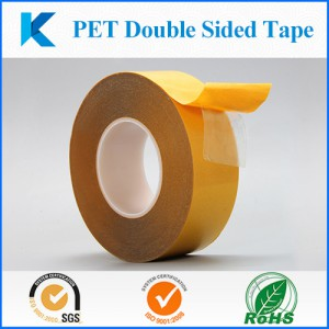 PET Double-sided Tape with polyester film and acrylic adhesive