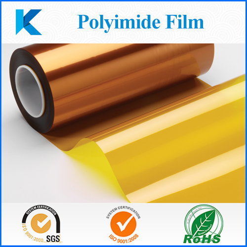 Polyimide film used for insulating circuit boards, high temperature powder coating and transformers manufacturing