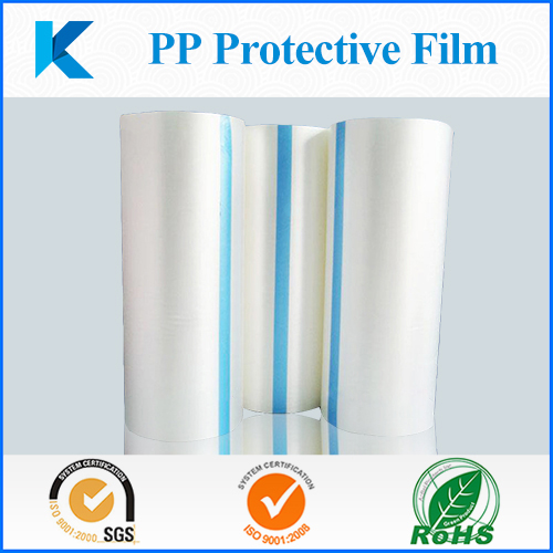 PP protective film with polypropylene and acrylic adhesive without residue