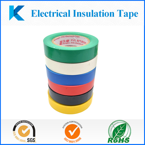 Colorful waterproof PVC electrical insulation adhesive tape with UL Certification of UL510 flame retardant