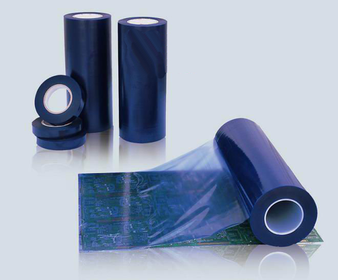 High performance pressure sensitive Transparent Blue PCB PVC Protective Tape