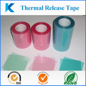 """The thermal release tape """"Kingzom"""" is a unique adhesive tape that adheres tightly at room temperature and can easily be picked up just by heating."""