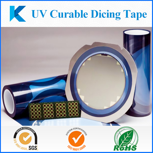 UV release dicing tape for wafers, UV curable adhesive Tape