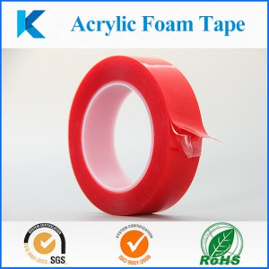 Red resealed liner VHB strong bond double sided acrylic foam tape for Auto and building industries